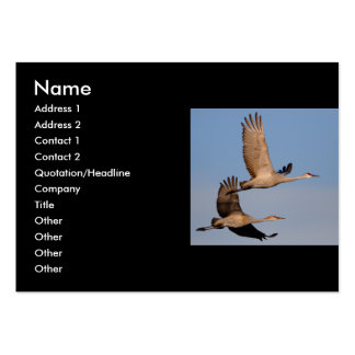 profile or business card, crane couple large business cards (Pack of 100)