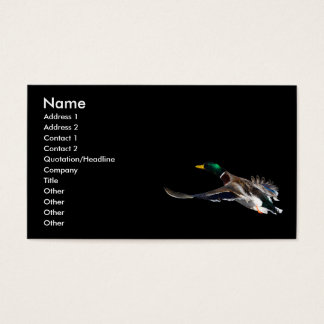 profile or business card, duck business card