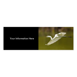 profile or business card, egret Double-Sided mini business cards (Pack of 20)