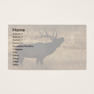 profile or business card, elk bugle business card