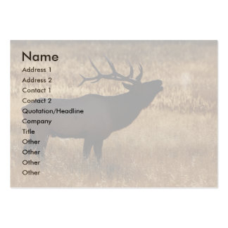 profile or business card, elk bugle large business cards (Pack of 100)