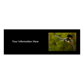 profile or business card, heron Double-Sided mini business cards (Pack of 20)