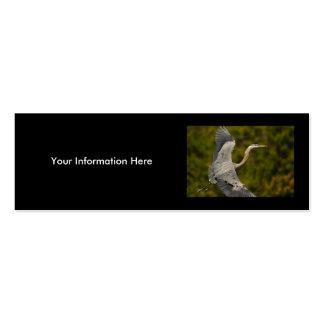 profile or business card, heron