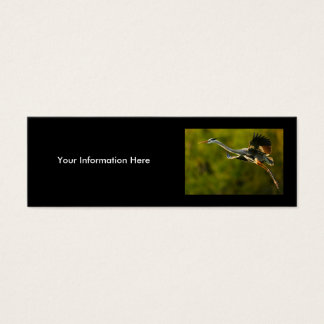 profile or business card, heron mini business card