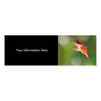 profile or business card, hummingbird Double-Sided mini business cards (Pack of 20)
