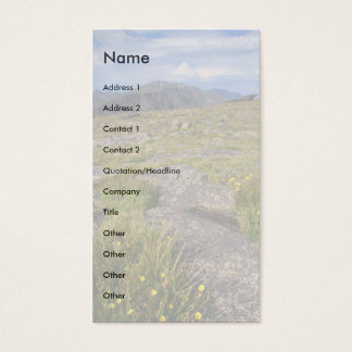 profile or business card, Landscape Business Card
