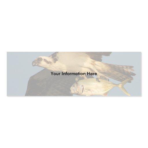 profile or business card, osprey