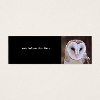 profile or business card, owl mini business card