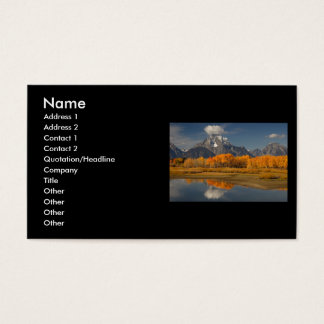 profile or business card, oxbow bend business card