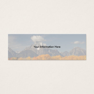 profile or business card, oxbow bend mini business card
