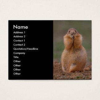 profile or business card, prairie dog business card