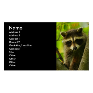 profile or business card, raccoon Double-Sided standard business cards (Pack of 100)