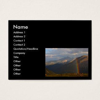 profile or business card, Rainbow Business Card