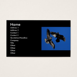 profile or business card, ravens business card