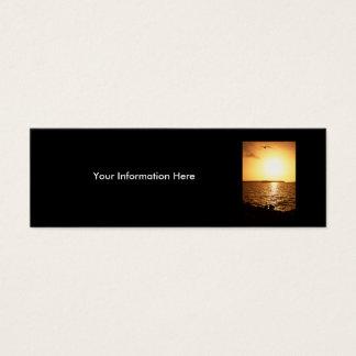 profile or business card, seascape mini business card
