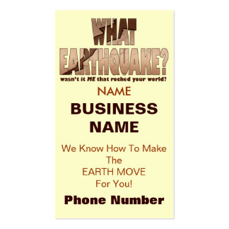 Profile or Business Cards - What Earthquake
