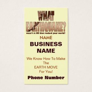 Profile or Business Cards - What Earthquake?