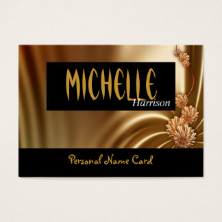 Profile Personal Name Card Silk Drapes