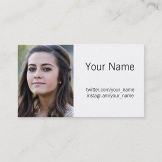 Profile Photo Business Card