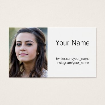 Professional Business Profile Photo Business Card