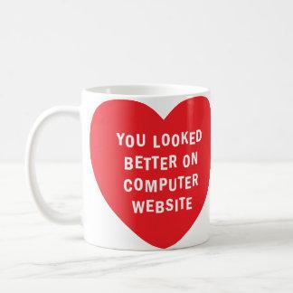 profile photo reality (mug) right-handed only coffee mug