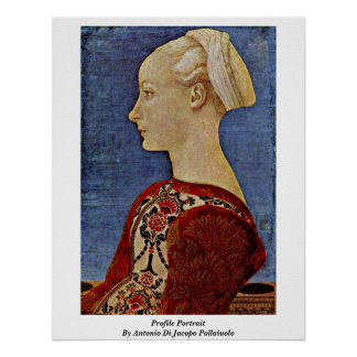 Profile Portrait By Antonio Di Jacopo Pollaiuolo Poster