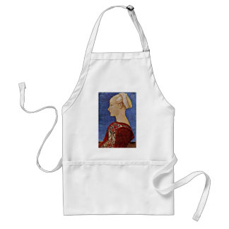 Profile Portrait Of A Young Woman Adult Apron