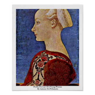 Profile Portrait Of A Young Woman Poster
