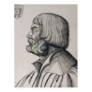 Profile portrait of Albrecht Durer , 1527 Postcard