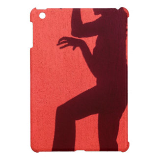 Profile shadow of woman on red wall iPad mini cover