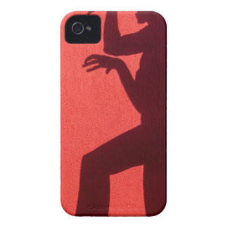 Profile shadow of woman on red wall iPhone 4 cover