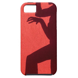 Profile shadow of woman on red wall iPhone SE/5/5s case