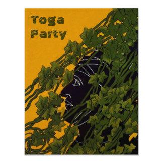 Profile Shadowed Grape Vines Toga Party Invitation