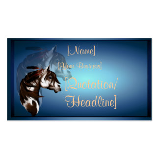 Profilecard_business_hori emplumado del caballo de tarjeta de visita