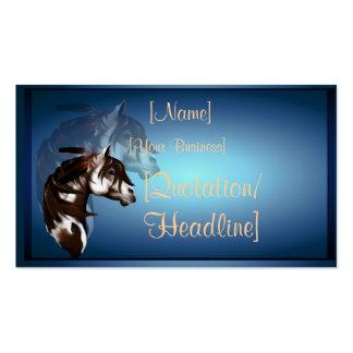 Profilecard_business_hori emplumado del caballo de tarjetas de visita
