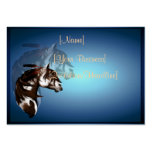 Profilecard_chubby_horizo emplumado del caballo de plantillas de tarjeta de negocio