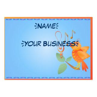 Profilecard_chubby_horizon del pájaro del canto de tarjetas de visita grandes