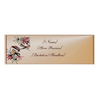 Profilecard_skinny_ de las hojas de otoño y de dos tarjetas de visita mini