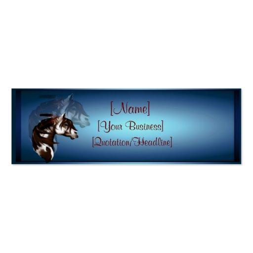 Profilecard_skinny_horizo emplumado del caballo de tarjetas de visita mini