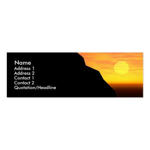 Profilecard: Sunset/Sunrise Business Card