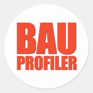 Profiler de BAU Pegatina Redonda