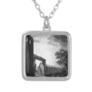 Profiles in large Ionic order forming the upper Square Pendant Necklace