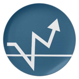 Profit Arrow Icon Melamine Plate