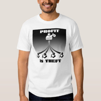 Profit is Theft Tee Shirt