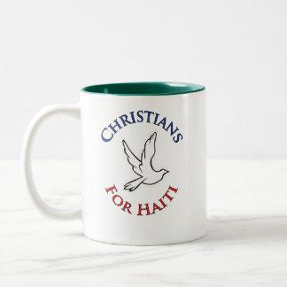 Profit to - Christians for haiti Two-Tone Coffee Mug