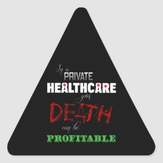Profitable Healthcare Triangle Sticker