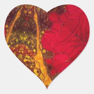 Profundamente apasionado pegatina en forma de corazón