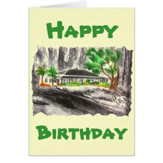 Profundamente en el bosque tarjeta de felicitación