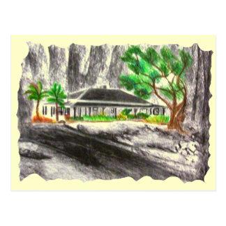 Profundamente en el bosque tarjeta postal