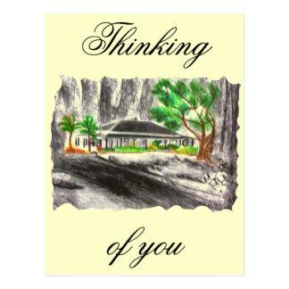 Profundamente en el bosque tarjetas postales